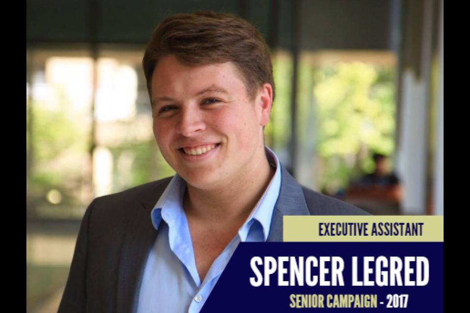 Spencer Legred, Executive Assistant