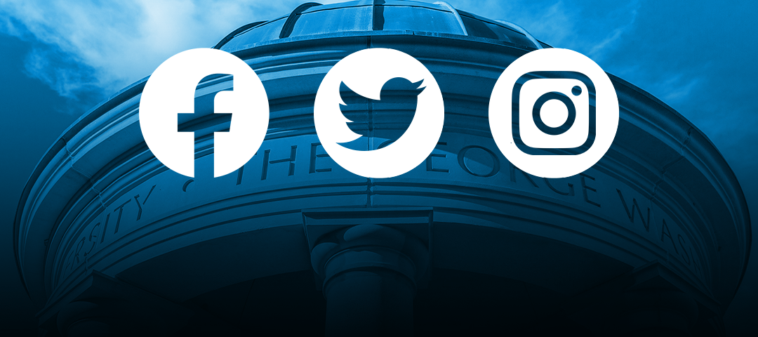 Facebook, Twitter, and Instagram