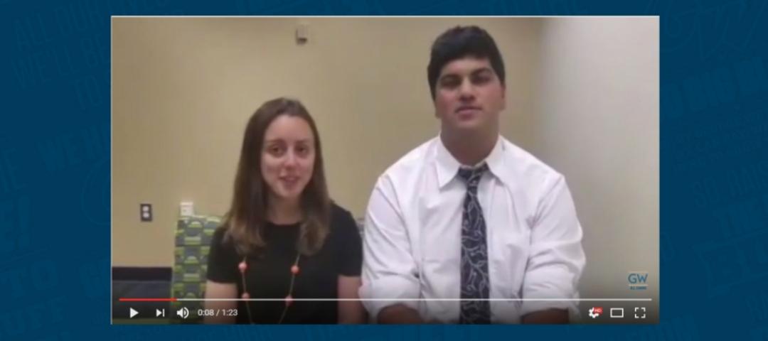 Senior Class Coordinators Lindsay Goodman and Pranav Nanda talk about the Senior Class Gift
