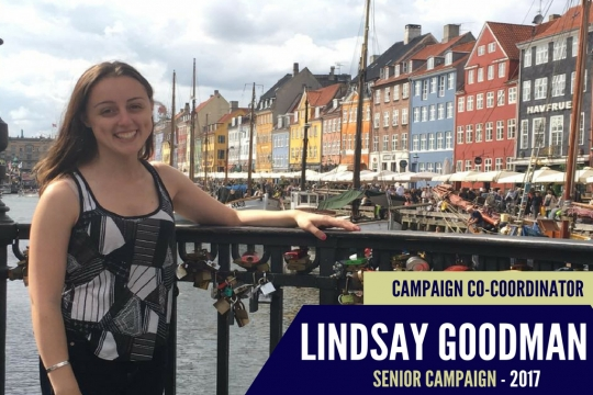 Lindsay Goodman, 2017 Senior Class Gift Coordinator